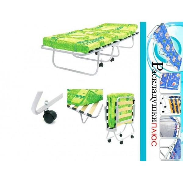 Кровать раскладная детская с матрасом на колёсах ДК-1ЛМ