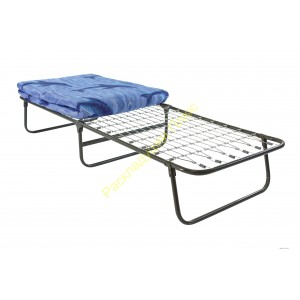 Кровать раскладушка с матрасом на сетке шириной 80см