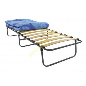 Кровать раскладная на ламелях с матрасом шириной 80см, труба 25мм
